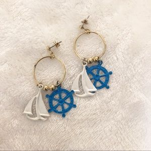 Vintage nautical earrings!